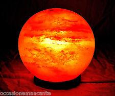 Lampada di Sale Salgemma sfera con CERTIFICATO GARANZIA provenienza Himalaya