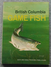 British Columbia Game Fish Book, Rare Author's Copy Circa 1970