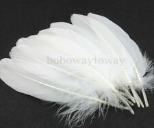 50PCS Goose Feather White Wedding Party DIY Decor Crafts 6-9inch/15-22CM