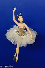 Katherine`s Collection: Chantilly Ballerina - TYP B, silber-gold, ca. 17cm Höhe
