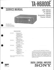 Sony  Original Service  Manual für TA- H 6800 E