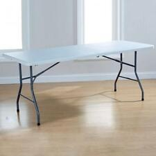 New - Hf4you Steel Framed & Legs 6FT White Folding Table - Free Delivery