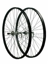 "26 ""Alloy Q / R COPPIA RUOTE screwon Mozzo Mountain Bike Nero Anteriore Assale Posteriore"