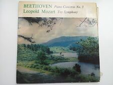 Beethoven Piano Concerto No. 3 and Mozart Toy Symphony Vinyl LP
