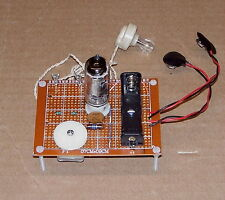 LOW COST Science Fair UNBUILT one 1 VACUUM TUBE vintage AM radio receiver kit
