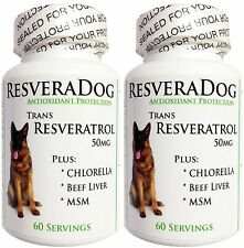 2 ~ Resveratrol DOG HEALTH ~ Joint Heart Weight Vitamins Minerals Digest Immune