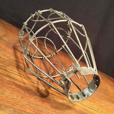 Vintage Light Cage Industrial Shop Wire Flower Guard Lamp Shade PRIORITY MAIL