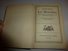 VICTOR HUGO LES MISERABLE VOL. 2 1943 TRANSLATED BY CHARLES E.WILBOUR  B89