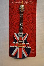 UNION JACK GUITAR ORNAMENT CHRISTMAS DECOR BRITISH FLAG