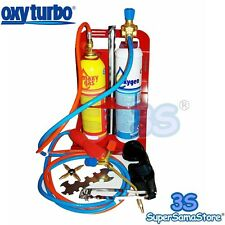 3S TURBO SET 90 OXYTURBO STAZIONE SALDATURA AUTOGENA KIT CANNELLO OSSIGENO + GAS