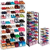 7/10 TIER SHOE RACK ORGANISER 21/50 PAIR SHOES STORAGE SHELF STAND HOLDER BOOTS