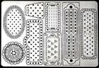 PERGAMANO Multi Grid 27 Perforating Parchment 31437 Frames Hearts Stars Tags