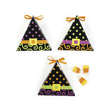 12 Witch Costume FAVOR BOX Halloween Decoration Gothic Candy Corn Buffet Party