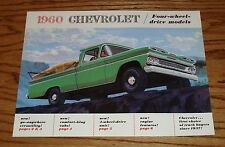 1960 Chevrolet 4-Wheel Drive Truck Sales Brochure 60 Chevy