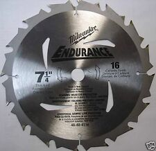 "Milwaukee 48-40-4116 Bulk 7-1/4"" x 16T Carbide Saw Blade"