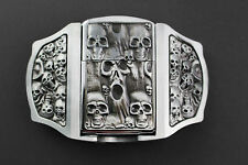 SCREAM SKULLS GOTHIC LIGHTER DARK BELT BUCKLE METAL