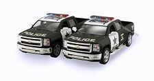 Set of 2 Kinsmart 2014 Chevy Silverado 1500 Pickup 1:46 scale model Police K132P