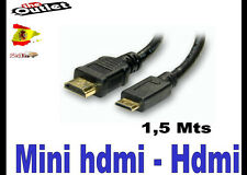 cable mini hdmi a hdmi conectar tablet en la tv Mini-hdmi to hdmi 1,5 mts Hanns