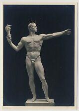 """Arno Breker """"MONUMENTALFIGUR"""" Male Nude / Männer Akt * Vintage 30s RPPC Gay Int"""