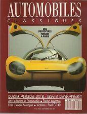 AUTOMOBILES CLASSIQUES 33 MERCEDES 500 SL 1989 PROTOTYPES FERRARI FORD GT40