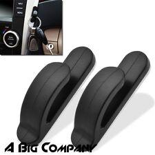AUTO CAR TRUCK CONVENIENT BAG KEY PURSE HOLDER HANGER PLASTIC HOOK BLACK PAIR
