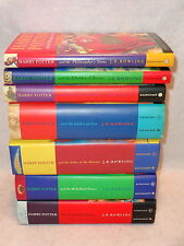 HARRY POTTER COMPLETE SET Books Yrs 1-7 All Hardcover W/ Dust Jackets Bloomsbury