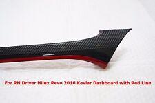 TOYOTA HILUX REVO 2016 GENUINE DASH BOARD EYEBROW KEVLAR /RED LINE
