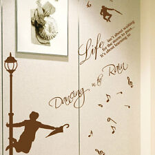Dance in the rain wall art autocollant/citation/applique murale 213