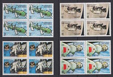PDR YEMEN (South)—1984 Space Research blks of 4—Michel 356-59, MNH-VF