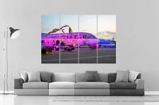 Airbus A380 Qatar Airways Wall Poster Grand format A0 Large Print
