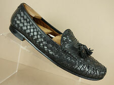 Allen Edmonds Tobago Black Leather Weaved Tassel Loafers Italy Shoes Mens 12 D