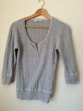 George Size 16 Grey Cotton Long Sleeve Jumper  T3157