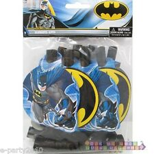 BATMAN BLOWOUTS (8) ~ Birthday Party Supplies Favors Paper Superhero DC Comics