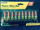 PACK OF 10 TUBES OF SUPER GLUE: PERFECT FOR WOOD/METAL/PLASTIC/GLASS - BRAND NEW