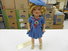 "Vintage 20"" Ideal Shirley Temple Composition Doll Blue Dress & Hat  (LK)"