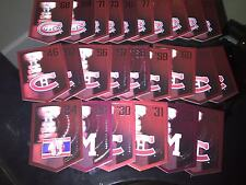 MONTREAL CANADIENS Team Set Molson Coors Budweiser Panini Stanley Cup Banners
