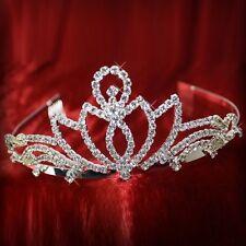 rhinestone coronet Silver Tiara Bridal jewelry Wedding Hairband Bridal crown 2