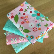 GARDEN GIRL Fat Quarter Bundle 100% cotton Riley Blake fabrics FLOWERS BUTTERFLY