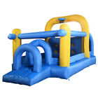 Goplus Inflatable Jumping Bounce House Tunnel and Obstacle Moonwalk Crayon New