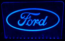 FORD ILLUMINATED LIGHT UP SIGN PLAQUE