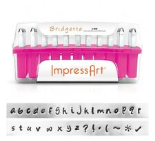 ImpressArt Bridgette Lowercase Letter Metal Stamps- Punches for Jewelry Making