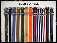 Cinturini ZULU Premium 3 Anelli 20-22-24mm. Nylon Straps. ENTRATE!!!