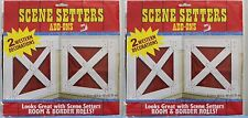 2-SET BARN DOOR SCENE SETTERS Western Wall Decoration Kids Cowboy Birthday Party