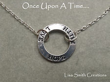 EMMA SWAN THE SAVIOR ONCE UPON A TIME  COSPLAY NECKLACE LOVE FAITH & HOPE