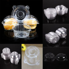 50x Clear Plastic Cupcake Box Single Cake Cases Muffin Pod Dome Holder Container