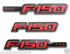 NEW OEM 2013-2014 Ford F-150 FX2 Sport Appearance Package Emblem Set - Black/Red