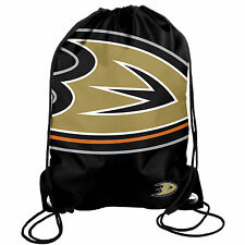 Anaheim Ducks Back Pack/Sack Drawstring Bag/Tote NHL New backpack BIG LOGO