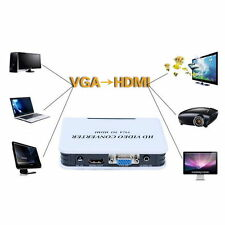 1080P Audio VGA to HDMI HD HDTV Video Converter Box Adapter for PC Laptop DVD HL