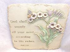 Wall Plaque God Shall Supply All Your Need According To His Riches Phil 4:19
