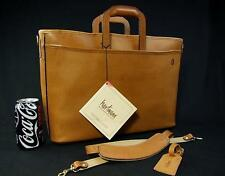 "New Vintage Hartmann 18"" British Tan Belting Leather Luxury Portfolio Briefcase"